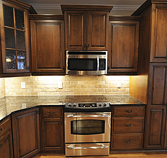 Staining Kitchen Cabinets - After
