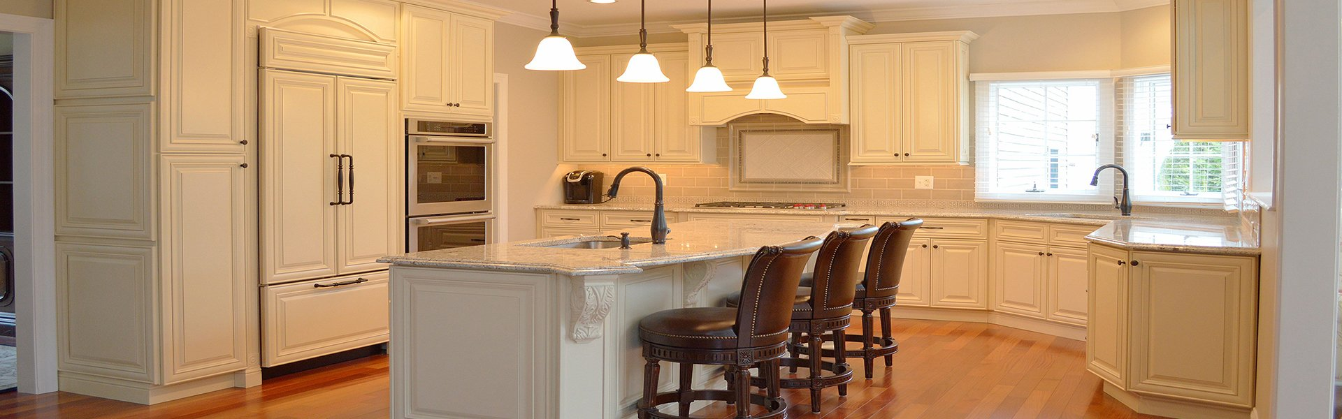 Kitchen Color Change Staining Services